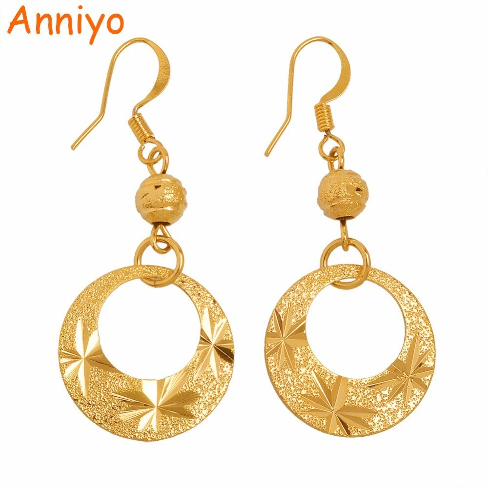 Primary image for Fashion Metal Earring for Women Girl Trendy Gold Color Drop Earrings