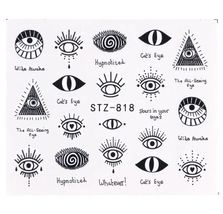 "HS Store -1pcs Nail Art ""STZ-818"" Cute Eyes Designs Nail Stickers Water ... - $2.51"
