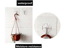 Lingduan Self Adhesive Hooks Seamless Hooks No Scratch No Nails Adhesive Wall Ho image 3