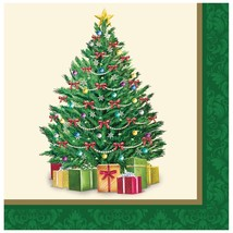 Perfect Pine Christmas Tree 16 Lunch Napkins Party - $3.79