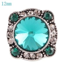 Silver Teal Rhinestone 12mm Mini Petite Charm For Ginger Snaps Magnolia ... - $6.25