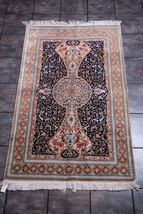 "Authentic Persian  Qum Silk Rug 35"" x 45"" - $1,682.01"