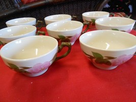 """Great Collectible Set of 8 FRANCISCAN """"Desert Rose"""" Coffee Cups - $27.43"""
