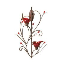 Gifts & Decor Ruby Blossom Tealight Candle Holder Wall Sconce Decor - $25.09