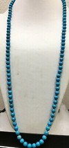 """Vintage Howlite knotted beaded necklace 34"""" - $14.00"""