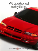1998 Dodge STRATUS sales brochure catalog US 98 ES - $6.00