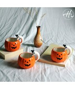 LOULONG® Happy Halloween Creative 3D Pumpkin Cup Colour Ceramic Glaze Cu... - $36.33