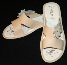 Flexus Sprint Step Slip On Sandals 40 / 9  Beige Leather Comfort Womens ... - $38.70