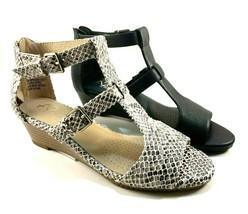 A2 by Aerosoles Applause Low Wedge T-strap Sandals Choose Sz/Color - $69.00