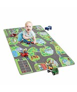 YJ.GWL Kids Carpet Car Play Mat Rug 48'' x 72'' City Life Play Mat for P... - $27.91