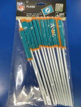 Miami Dolphins NFL Pro Football Sports Banquet Party Favor Plastic Flags - $10.66