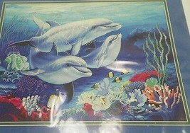"""New Sunset No Count Cross Stitch Kit """"Underwater Tranquility"""" 16""""X12"""" 1996 13932 - $11.99"""