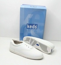 Vintage 90s Keds New Womens 6 M Champion Walker Lace Up Walking Shoes White - $31.94
