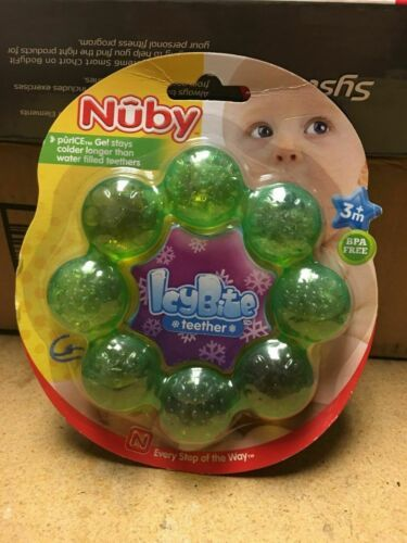 Primary image for BRAND NEW NUBY ICYBITE TEETHER(GREEN), FREE SHIPPING