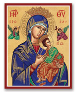"Our Lady of Perpetual Help icon 4.5"" x 6"" Print With Lumina Gold - $21.95"