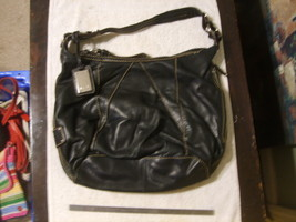 Tignanello Black Leather Shoulder Bag - $20.00