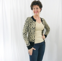 Leopard Sweater, Leopard Print Sweater, Animal Print Sweaters, Cardigan Sweater
