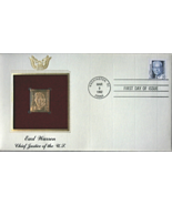EARL WARREN - Chief Justice of the U.S.  FIRST DAY OF ISSUE STAMP: Mar. 9, 1992 - $7.50