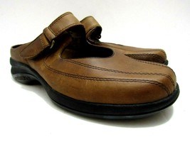 Merrell Topo Clutch Deer Tan Leather Mary Jane Mule Slides Shoes Womens ... - $79.19