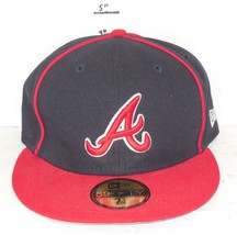 Atlanta Braves Fitted Baseball Hat Cap New Era Sz 7 1/4 57.7cm - ₹979.99 INR