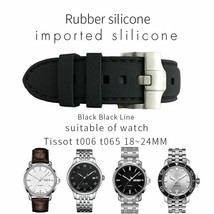 20 22mm Rubber Silicone Watch Strap For Tissot Fashion Needle Buckle Wat... - $44.17