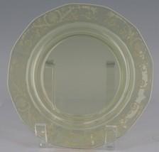 "12 Elegant Fostoria Glass VERSAILLES TOPAZ Salad Plates 7 1/2"" 10 MINT & 2 NM image 2"