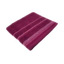 Luxury Striped Bright 100% Combed Cotton Soft Plum Heather Bath Sheet Towel - $18.28