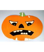 Halloween Die Cut Cardboard Pumpkin Face Decoration Vtg USA Luhrs Beistle ? - $25.48