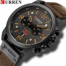Relogio Masculino Curren Chronograph Sports Men Watch Top Brand Luxury Army - $47.61