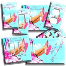 Summer Vacation Pink Car Flip Flops Beach Light Switch Outlet Plate House Decor - $9.99+