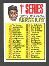 1967 Topps #62 1st Series Checklist (Frank Robinson) Vg/Ex Mk - $1.00