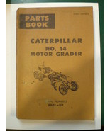 1969 Caterpillar no 14 Motor Grader Parts Book Revised 1971 - $17.37