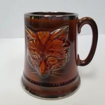 Vintage Sylvac  England Tankard Coffee Mug Cup 3D Fox #2376 12 Oz. - $9.90