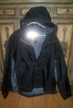 MENS TIMBERLAND ZIP HOODED BASECAMP WINDBREAKER JACKET SIZE XXL BLACK GR... - $34.99