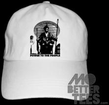 black panther party Huey dad hat white baseball cap - $14.99