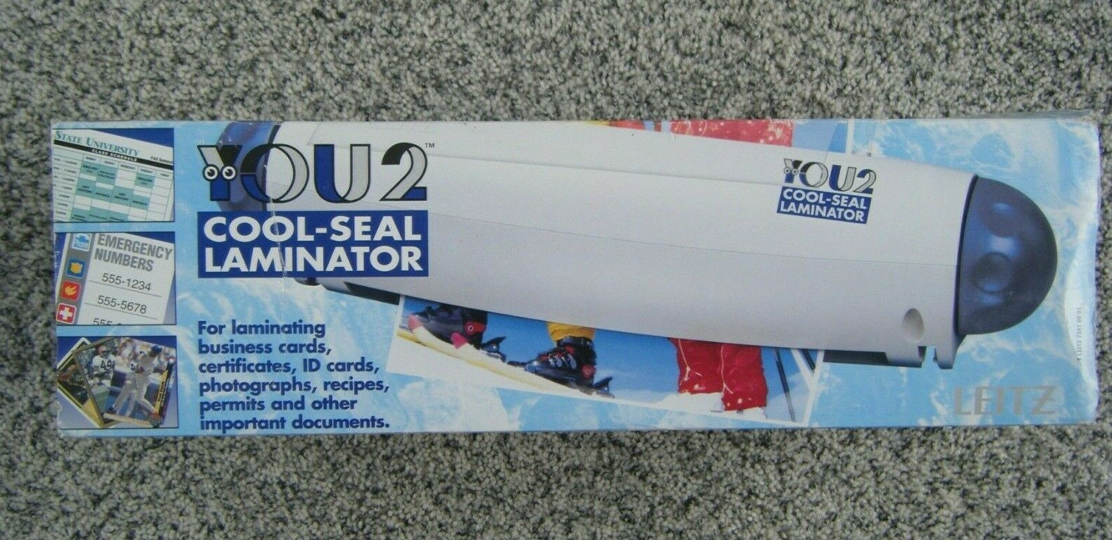 "YOU2 Cool-Seal Laminator laminate up to 9"" wide cards recipes photos permits etc"