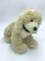 "Boyds Bears Skippy Tan Puppy Dog Plush Curly Hair Seated Black Collar 12"" - $44.99"