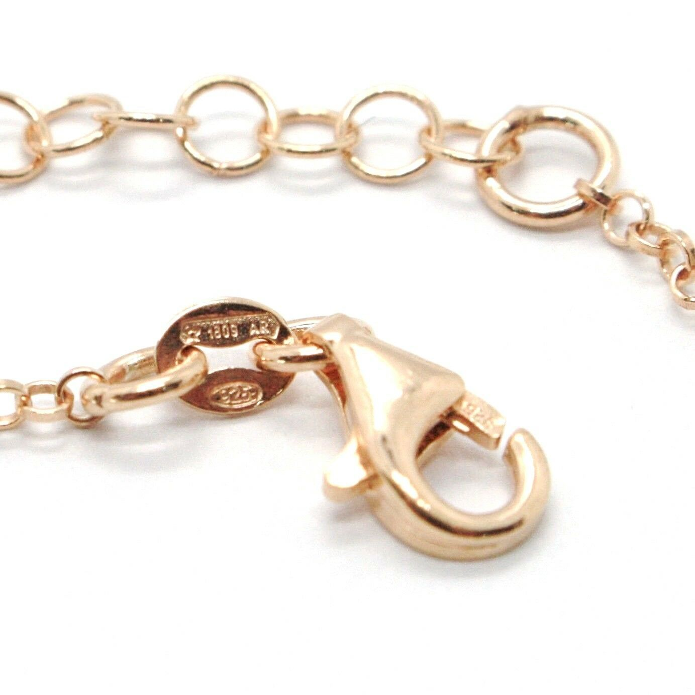 Silver Bracelet 925 Laminated in Rose Gold le Favole with Bow AG-901-BR-52