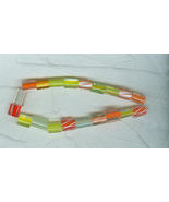 20 American Made Cane Glass Beads Autumn Leaf Shades - $14.00