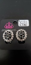 Paparazzi Earrings Clip-Ons (New) Runway Ready Black CLIP-ON Earring #5090 - $7.61