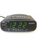 Sony Dream Machine AM/FM Clock Radio Alarm Model ICF-C212 Green Digital ... - $14.20