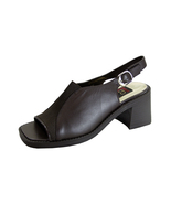 PEERAGE Lindy Women's Wide Width Leather Slingback Sandals - $34.95