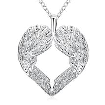 Wings of an Angel Necklace in 18K White Gold Plated - $27.99