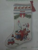 1983 Sunset SANTA'S FINISHING TOUCH Cross Stitch STOCKING Kit #2900 - 14... - $19.80