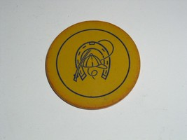 Vintage Poker Chip Horseshoe Whip Early 1900's Clay or Clay Composite Ba... - $8.99