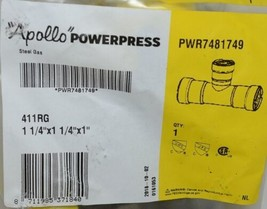 Apollo Powerpress Gas Carbon Steel Press Reducing Tee PWR7481749 image 2