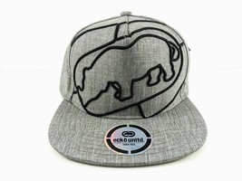 MEN'S ECKO UNLTD BIG RHINO GRAY SNAPBACK CAP ADJUSTABLE - $22.77