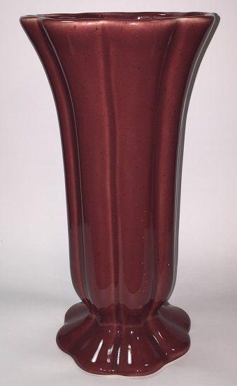 Royal Haeger Vase Rose Maroon Scalloped And 23 Similar Items