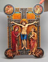 12.25 Inch Weingarten Missal Crucifix Resin Wall Statue Figurine - £27.75 GBP