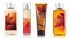 Bath & Body Works Signature Collection Sensual Amber Gift Set ~ Body Cre... - $45.35